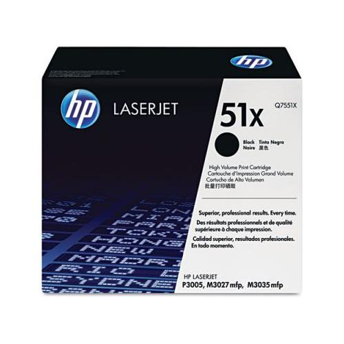 HP 51X Q7551X High Yield Blk Print Cartridge HP Yield: 13k HP Q7551X